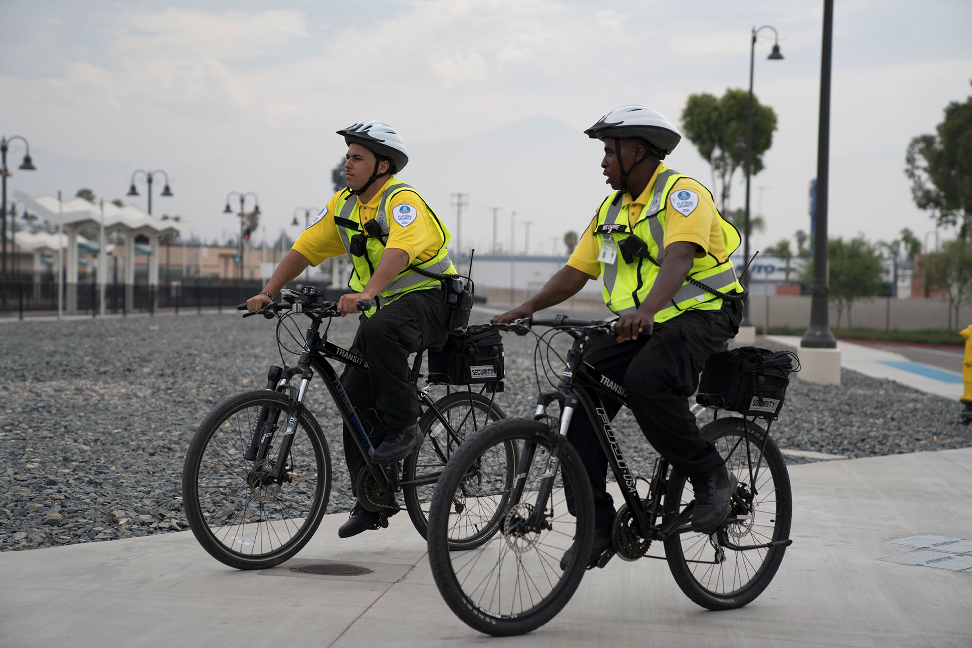 security guards on bikes